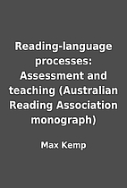 Reading-language processes: Assessment and…