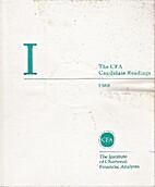 1988 CFA Candidate Readings - Level I