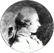 Author photo. Portrait of Donatien Alphonse François de Sade<br> by Charles Amédée Philippe van Loo. <br>The drawing dates to 1760, when the Sade was nearly 20 years old. <br>It's the only known authentic portrait of the Marquis <br>(Public domain ; Wikipedia)
