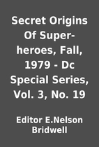 Secret Origins Of Super-heroes, Fall, 1979 -…