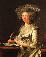 Author photo. Madame Roland in 1787 painted by Adelaide Labille-Guiard,