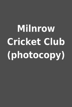 Milnrow Cricket Club (photocopy)