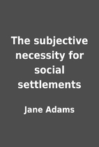 The subjective necessity for social…