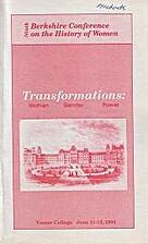 Transformations: women, gender, power; June…