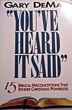 You've heard it said : 15 biblical…