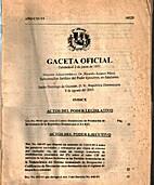 Gaceta Oficial: Santo Domingo de Guzmán, 8…