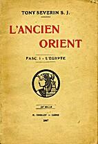 L'ancien Orient by Tony Severin