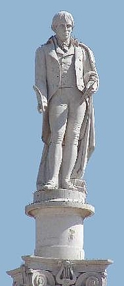 Author photo. Statue of Manuel María Barbosa du Bocage, Setúbal, Portugal.  Photo by user Museo8bits / Wikimedia Commons.