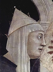 Author photo. St. Helena, fresco detail by Piero della Francesca, 1452-1466.