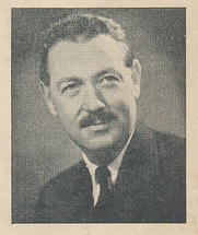 Author photo. Cut down scan from back cover of Penguin No.1083. Unattributed photo.
