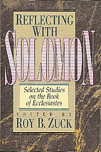 Reflecting With Solomon: Selected Studies on…