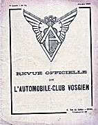 REVUE OFFICIELLE DE L'AUTOMOBILE CLUB…