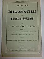 Articles on rheumatism and rheumatic…
