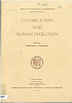 Classification and Human Evolution by S. L.…