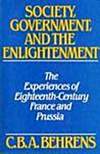 Society, Government and the Enlightenment:…