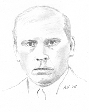 Author photo. Olaf Bull. Drawing by Andrva. Wikimedia Commons.