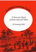 A historical Sketch of Back Creek and Talbot…
