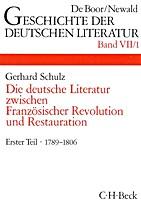Geschichte der deutschen Literatur 7.1 : Die…