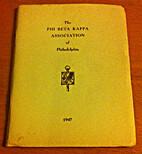 The Phi Beta Kappa Association of…