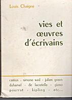 Vies et oeuvres d'écrivains by Louis…