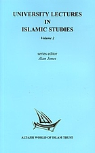 University Lectures in Islamic Studies: v. 2…