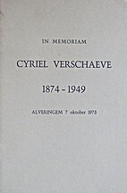 In memoriam Cyriel Verschaeve 1874-1949 -…