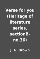 Verse for you (Heritage of literature…