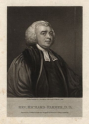 Author photo. Richard Farmer, 1816, mezzotint by Thomas Hodgetts, after George Romney. Wikimedia Commons.