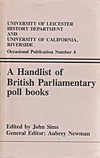 A handlist of British Parliamentary poll…