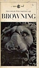 Browning: Selected Poetry (Poetry Library,…