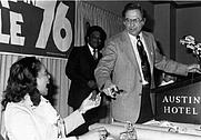 Author photo. Jake Pickle & Coretta Scott King, 1976 Photo by Larry D. Moore (Wikimedia Commons)