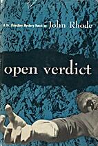 Open Verdict by John Rhode