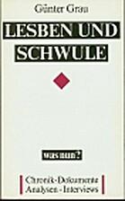 Lesben und Schwule - was nun? Frühjahr 1989…