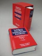 Vahlens Großes Wirtschaftslexikon by Erwin…
