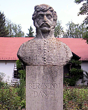 Author photo. Bust of Dániel Berzsenyi, Nikla, Hungary. Photo by user Csanády / Wikimedia Commons.