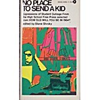 No Place To Send A Kid by Diane Divoky