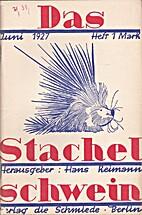 Das Stachelschwein Juni 1927 by Hans Reimann