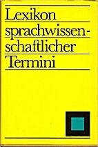 Lexikon sprachwissenschaftlicher Termini by…