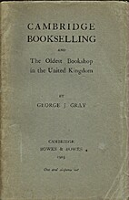 Cambridge bookselling and the oldest…