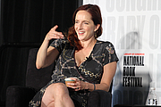 "Author photo. Rebecca Makkai gives a presentation on the Fiction Stage at the National Book Fstival, August 31, 2019. Photo by Ralph Small/Library of Congress. By Library of Congress Life - 20190831RS0067.jpg, CC0, <a href=""https://commons.wikimedia.org/w/index.php?curid=82899195"" rel=""nofollow"" target=""_top"">https://commons.wikimedia.org/w/index.php?curid=82899195</a>"
