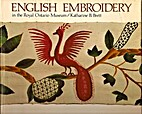 English embroidery; sixteenth to eighteenth…