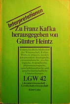 Zu Franz Kafka (LGW-Interpretationen) by…