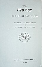 Sidur Sefat Emet by S. Bamberger