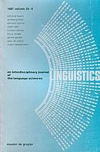 Linguistics 25 (1987) 6: 1029-1212