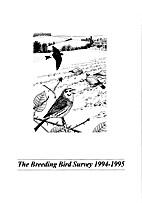 Breeding Bird Survey 1994-1995 report number…