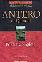 Poesías de Antero de Quental by Antero de…