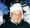 Author photo. Yusuf Al Qardawi at the Third Annual Doha Educational Conference in Doha in February 2006