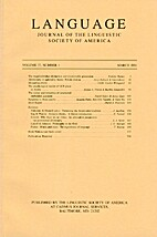 Language 77 (2001) 1: 1-206