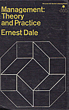 Management: theory and practice by Ernest…