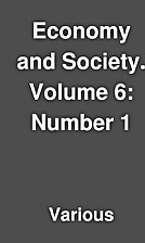 Economy and Society. Volume 6: Number 1 by…